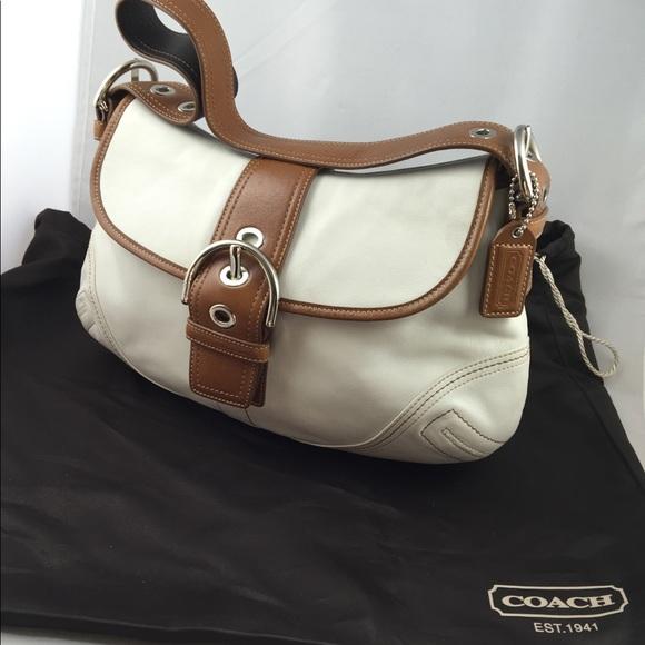 Coach Handbags - Coach NEW leather shoulder bag with silk dust bag